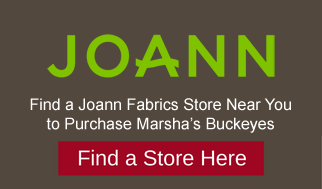 Marshas buckeyes candies at Joann Fabrics