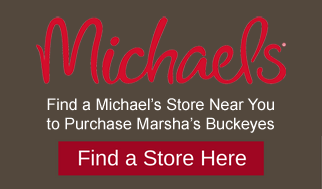Marshas buckeyes candies at Michaels